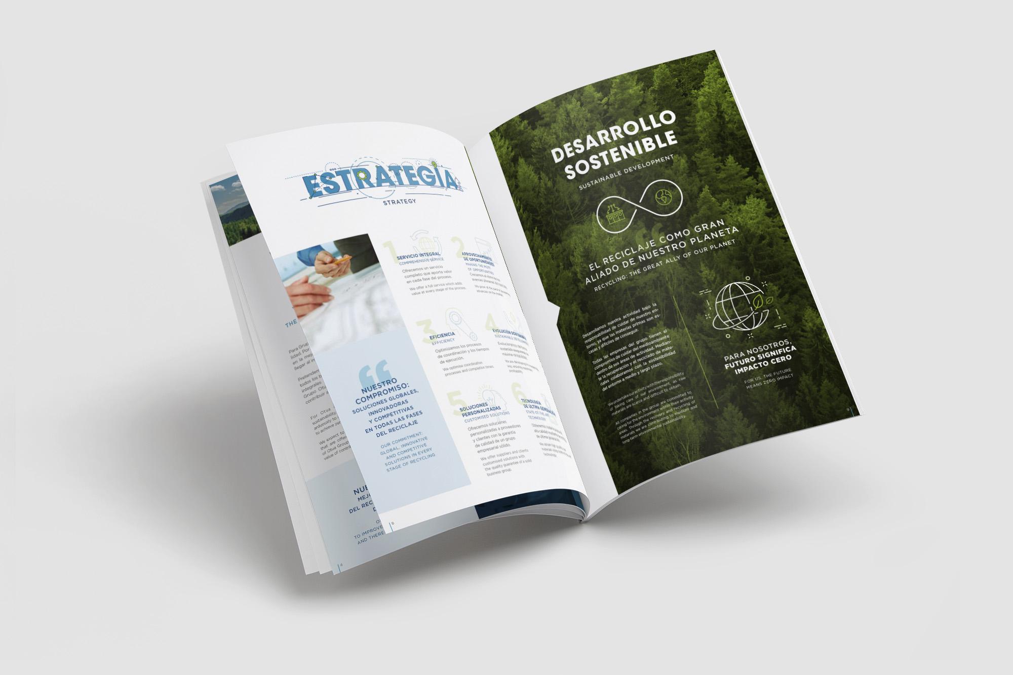 Diseño de catálogo corporativo para Grupo Otua