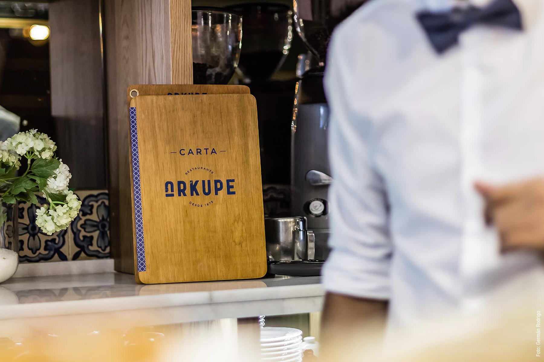 Diseño de cartas para Restaurante Arkupe de Vitoria-Gasteiz