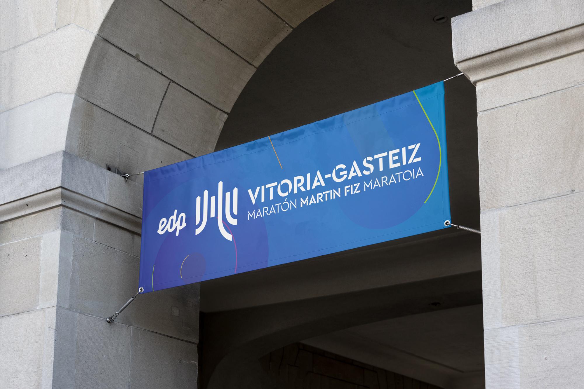 Diseño de lona para EDP Vitoria-Gasteiz Maratón Martin Fiz Maratoia