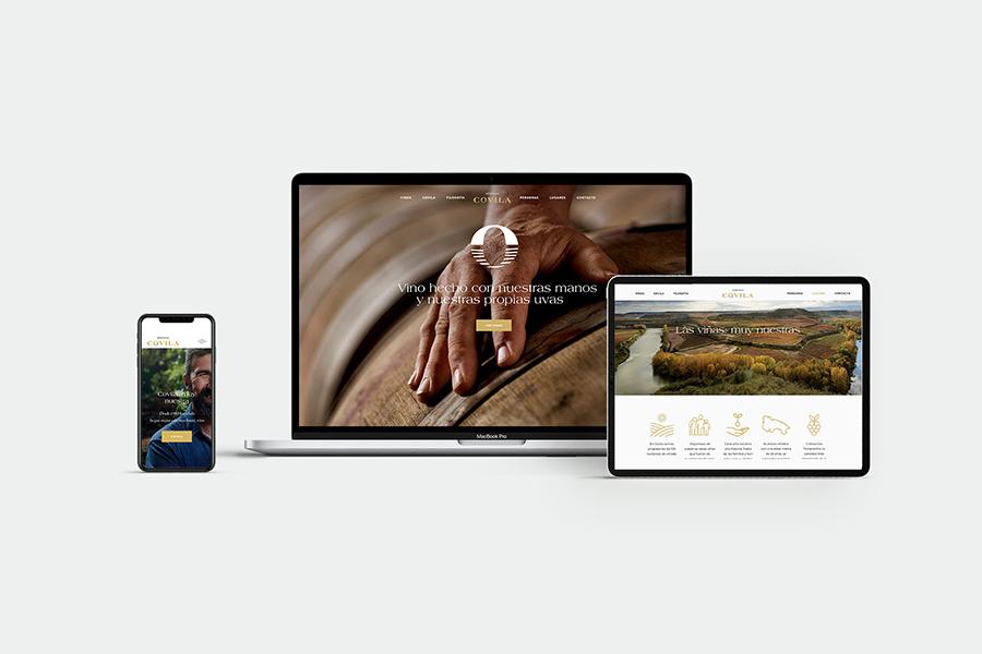 Diseño de página web Wordpress para Bodegas Covila